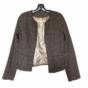 Lani Wool Blend Open Front Suit Jacket